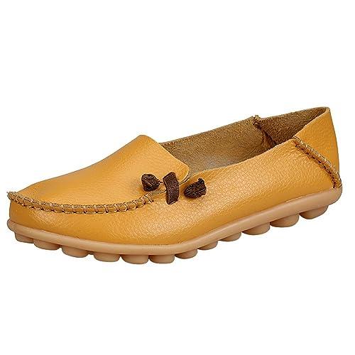 Mujer Mocasines de Cuero Moda Loafers Casual Zapatos de ...