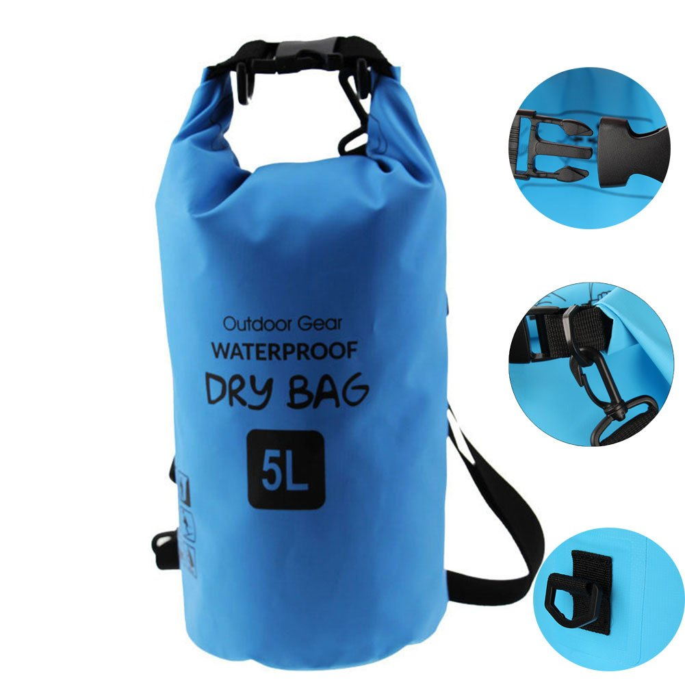 cd834a482793 Amazon.com   10L 20L Waterproof Bag Sack with Phone Clothing PVC Dry Bag  for Outdoor Boating Kayaking Canoeing Fishing Rafting Swimming Floating  Camping ...