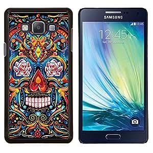 Cubierta protectora del caso de Shell Plástico    Samsung Galaxy A7 ( A7000 )    Patrón indio Cráneo floral Muerte @XPTECH