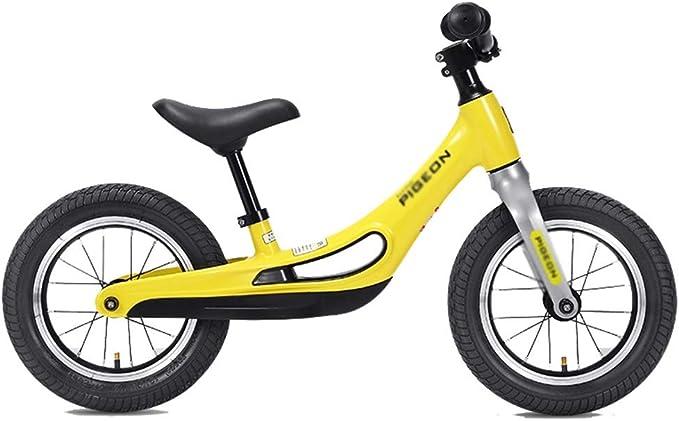 Bicicleta de equilibrio para niños para niños y niñas: no pedalee la bicicleta de entrenamiento deportivo con marco de acero al carbono, manillar y asiento ajustables - Bicicleta para niños para niños: