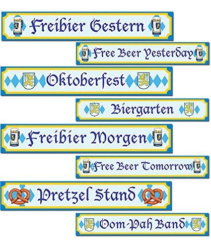 Oktoberfest Sign Cutouts -
