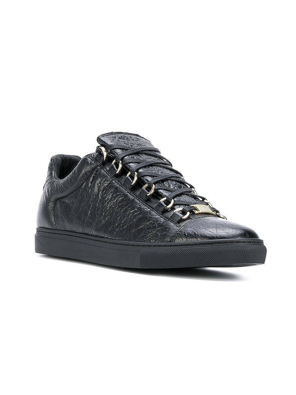 Balenciaga Hombre 477285Wad401000 Negro Cuero Zapatillas: Amazon.es: Zapatos y complementos