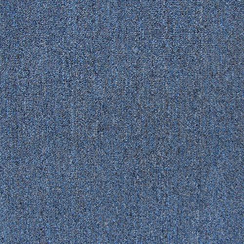 (All American Carpet Tile Bravo 23.5 x 23.5 Plush Easy to Install Do It Yourself Peel and Stick Carpet Tile Squares - 9 Tiles Per Carton - 34.52 Square Feet Per Carton (Skyline))