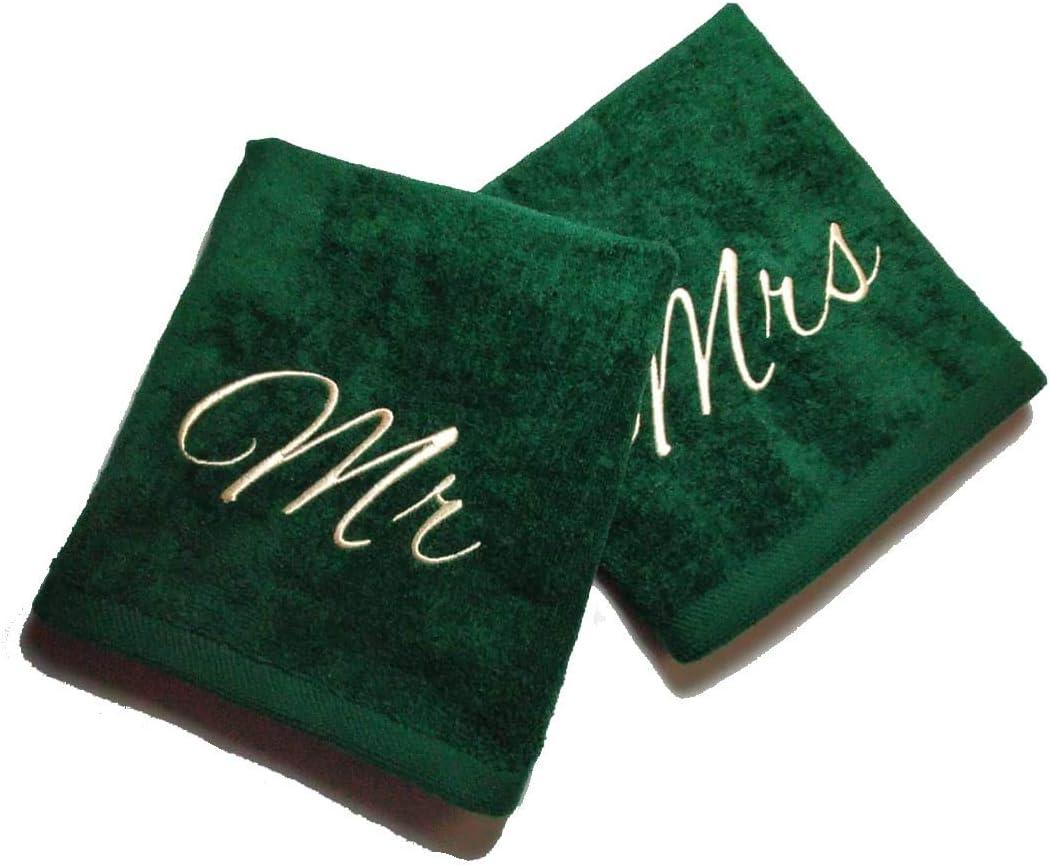 ejemplo de dos toallas personalizadas para parejas