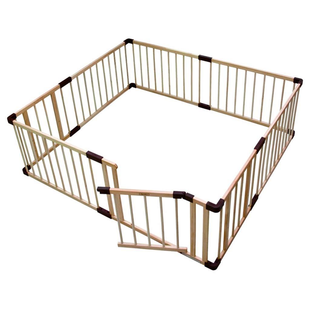 ベビープレイフェンスベビークロール幼児フェンスソリッドウッド室内子供安全フェンスフェンス (サイズ さいず : 160*160cm) 160*160cm  B07P3Z7RK2