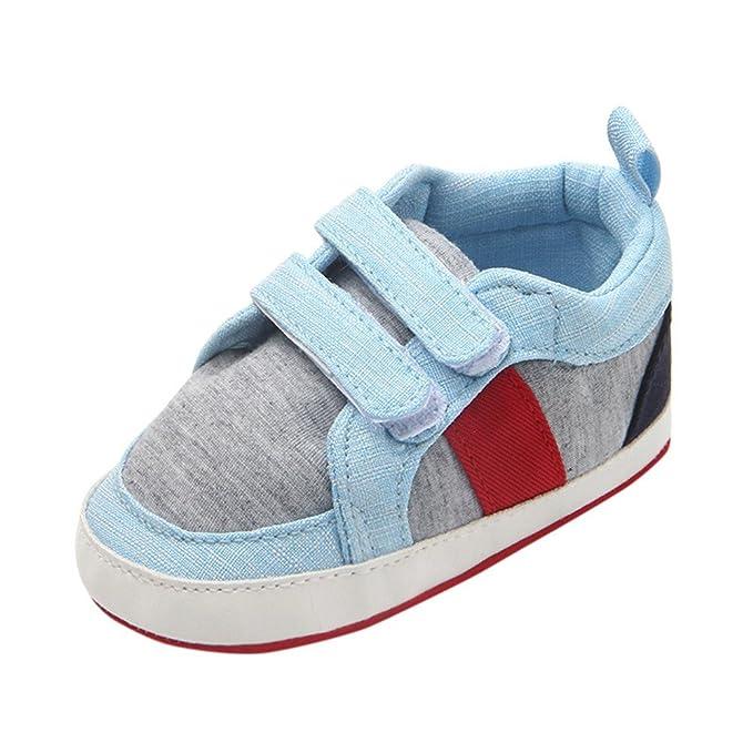 YanHoo Zapatos de bebé Casuales Zapatos de Lona de Velcro Zapatos de Lona antirresbaladizos Suaves de