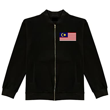Malaysia Flag Country Chest Cotton Bomber Jacket at Amazon Men's ...