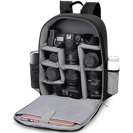 CADeN Mochila Cámara Réflex con Compartimento para Laptop de 15.6 ...