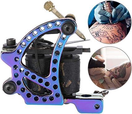 Pistola de tatuaje, 10 bobinas de envoltura profesional Shader ...