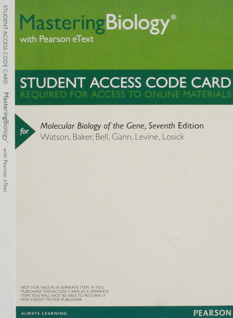 Mastering Biology with Pearson eText -- ValuePack Access Card -- for Molecular Biology of the Gene
