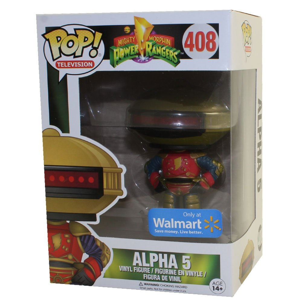 Funko Pop Mighty Morphin Power Rangers Alpha 5 Exclusive Limited Edition Vinyl Figure # 408