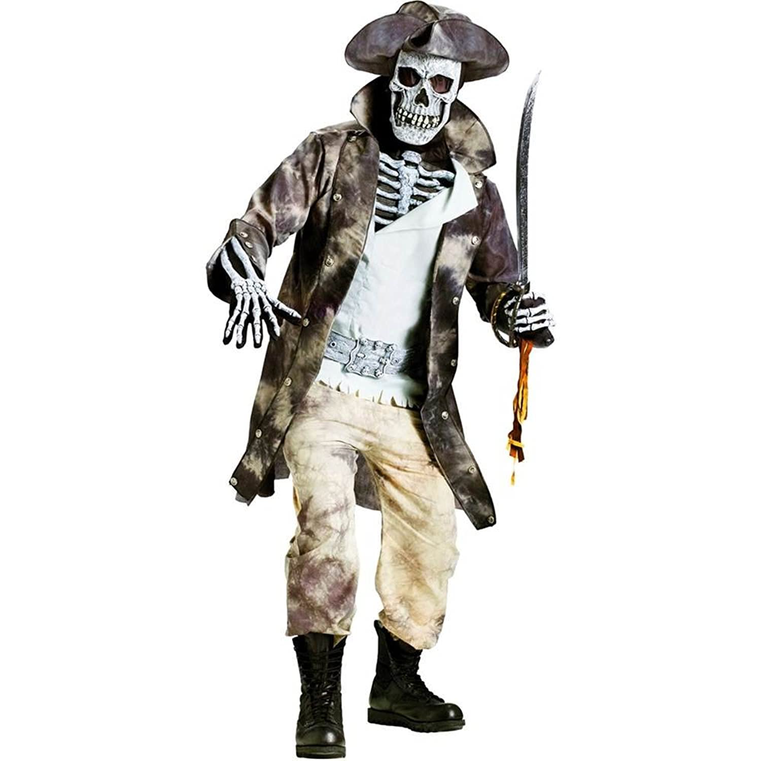 sc 1 st  Amazon.com & Amazon.com: Fun World Ghost Pirate Costume: Clothing