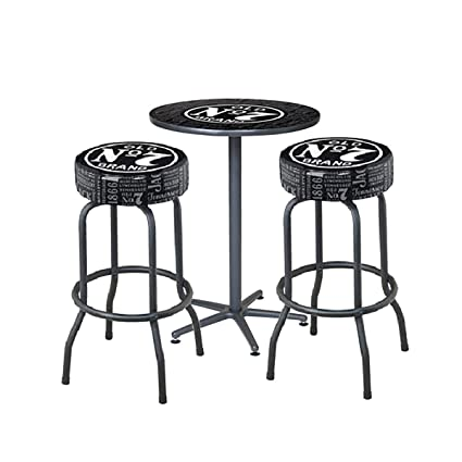 Astounding Amazon Com Jack Daniel Repeat Cafe Table And Bar Stools Creativecarmelina Interior Chair Design Creativecarmelinacom