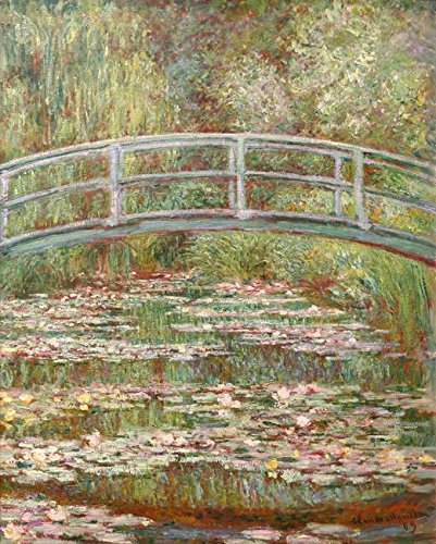 Wall Art Print Entitled Bridge Over A Pond of Water Lilies, Claude Monet 1 by Celestial Images | 24 x ()