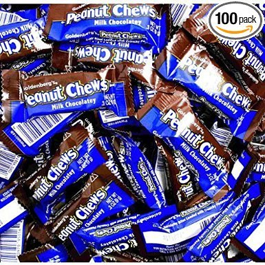 Goldenberg's Peanut Chews - Milk Chocolatey 2lb Bulk Bag From (Jersey Candy)