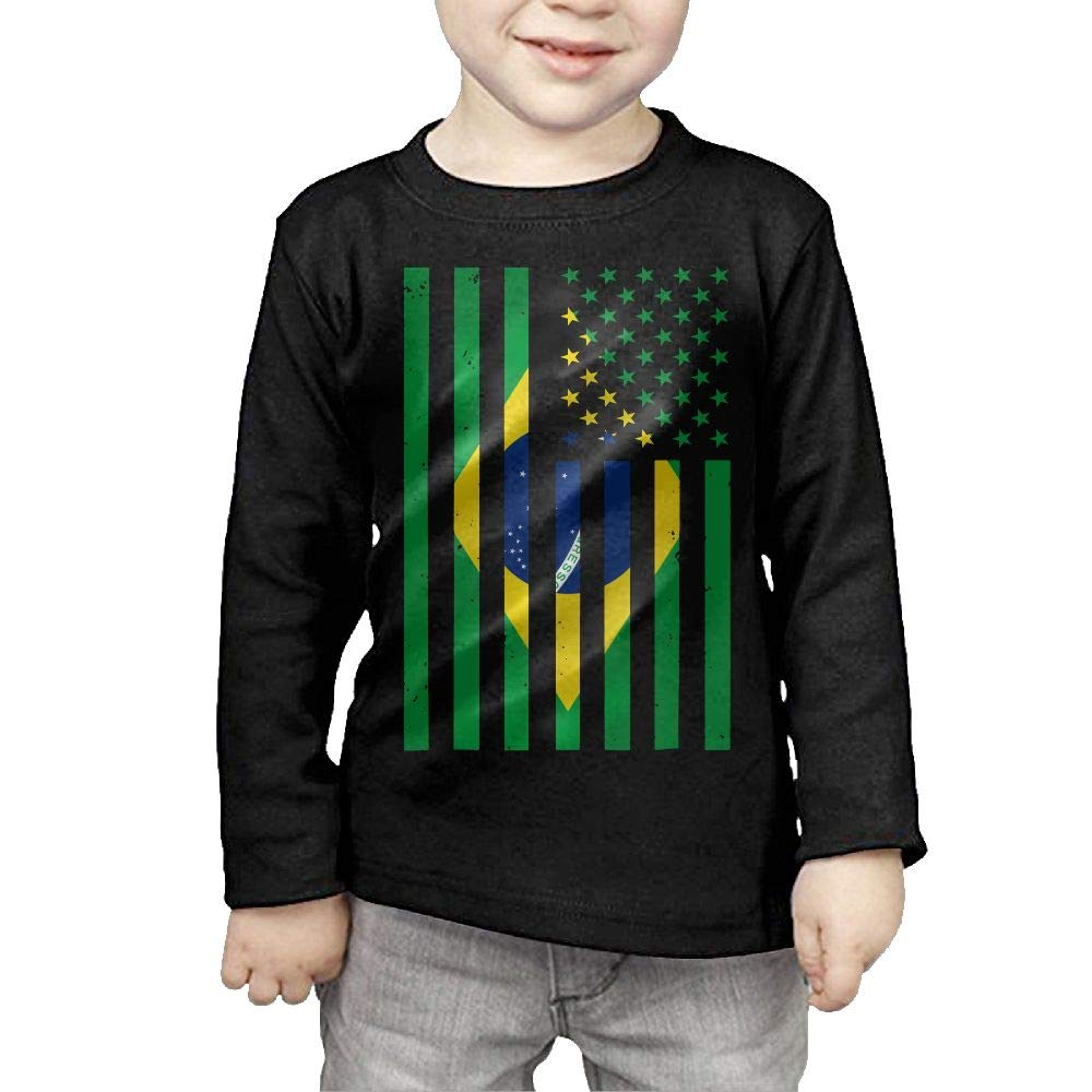 Fryhyu8 Baby Boys Childrens Handprint Flag of Spain Printed Long Sleeve 100/% Cotton Infants Tops