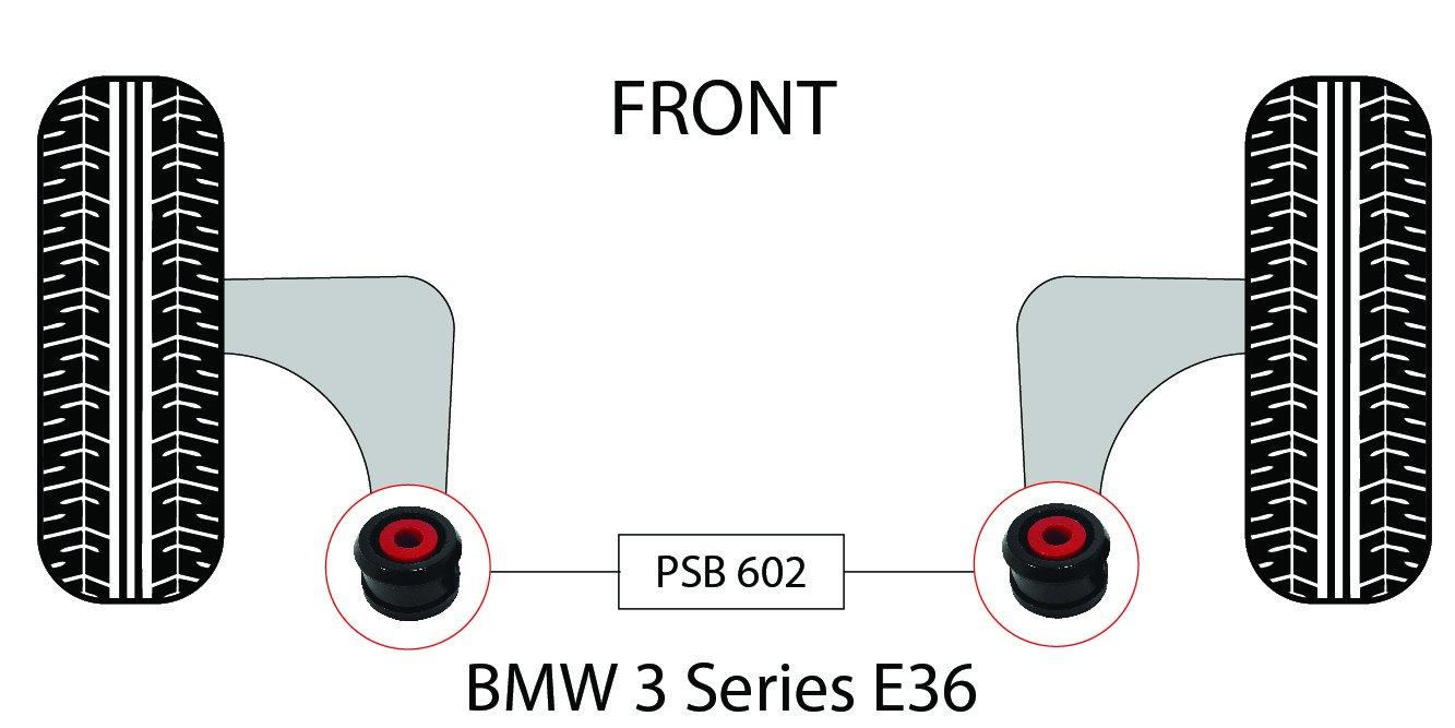 psb Poliuretano Bush serie 3 E36 (91 99) delantero inferior brazo 60 mm casquillos Kit –  psb602 Relsters Limited