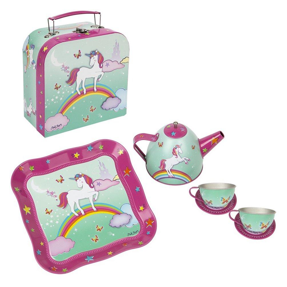 Pink Poppy Unicorn Tea Set with Mini Mint Carrying Case
