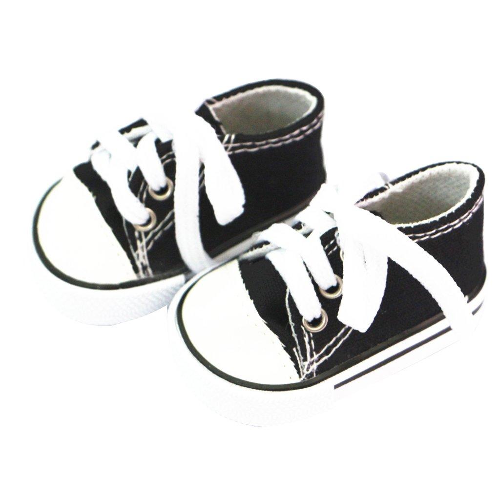 Sharplace 4 Coppio Scarpe Sneaker Tela Canvas Sport Moda Per Bambola Accessorio 18 Multicolori Regali Bambini