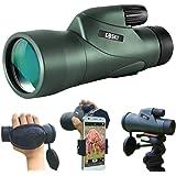 Gosky 12x55 High Definition Monocular Telescope and Quick Phone Holder-2020 Waterproof Monocular -BAK4 Prism for Wildlife Bir