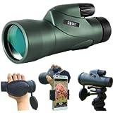 Gosky 12x55 High Definition Monocular Telescope and Quick Smartphone Holder - 2020 Upgraded Waterproof Monocular -BAK4…