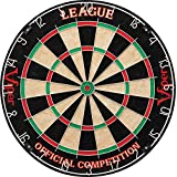 Viper League Sisal/Bristle Dartboard with Staple-Free Bullseye