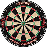 Viper League Sisal/Bristle Steel Tip Dartboard with Staple-Free Bullseye