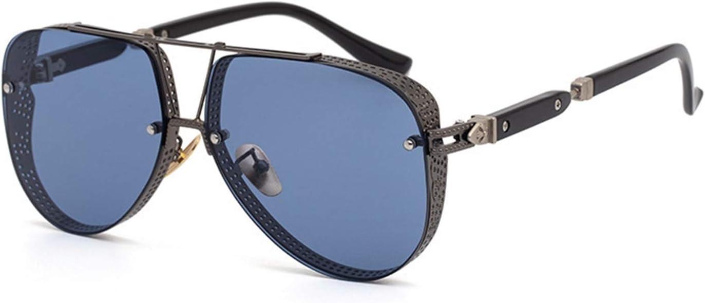 FDSJKD 2021 Gafas de Sol Moda Moda Gafas de Sol Decoración A Prueba de Viento Encuadernación Hombres Mujeres Unisex Polarizado Protección Conducción Viajar Ligero Peso (Lenses Color : 5)