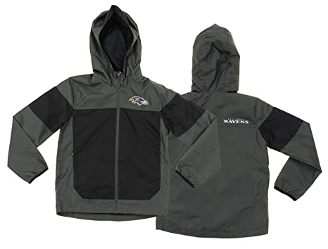 nfl youth baltimore ravens light weight all elements jacket