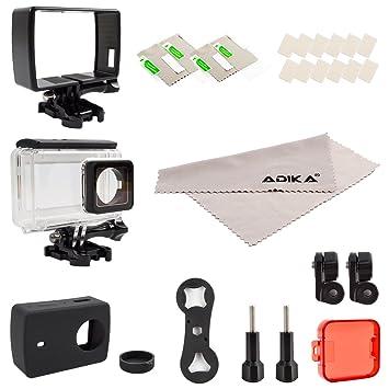 ADIKA deporte accesorios Kit para Yi 4 K inclueds carcasa ...