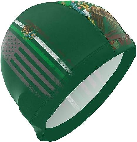 DQQiang - Gorro de baño con Bandera de México (no Impermeable ...