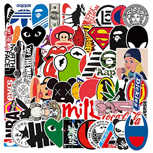 🥇 Selinoy Cool Brand Stickers- 113 PCS Vinyl Waterproof Brand Sticker for Laptop Stickers Motorcycle Bicycle Skateboard Luggage Decal Graffiti Patches