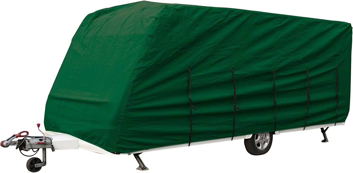 BAILEY UNICORN VALENCIA II 2013 HEAVY DUTY CARAVAN COVER GREEN 4PLY