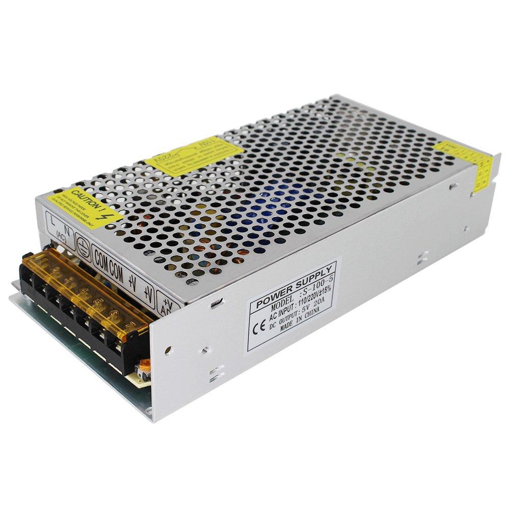 AC 110V-220V to DC 5V20A 100W LED Power Supply Switching Driver Transformer