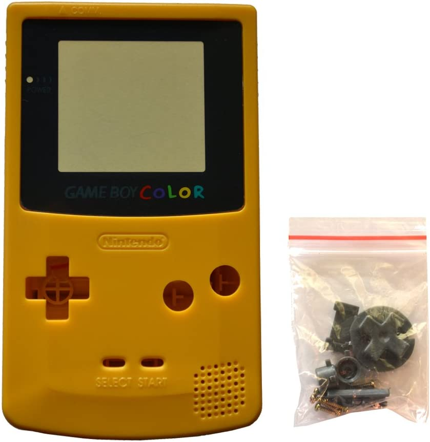 Full Repair Replacement Housing Shell Case Cover Part for Nintendo GBC Gameboy Color Color Yellow