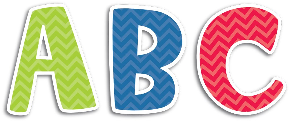 Chevron Solids Creative Teaching Press Uppercase 2-Inch Letter Stickers 4399