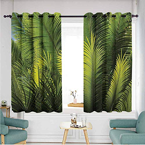 ETHEEKA Extra Wide Patio Door Curtain,Palm Tree,Hipster - Palm Bamboo Door Tree Curtain