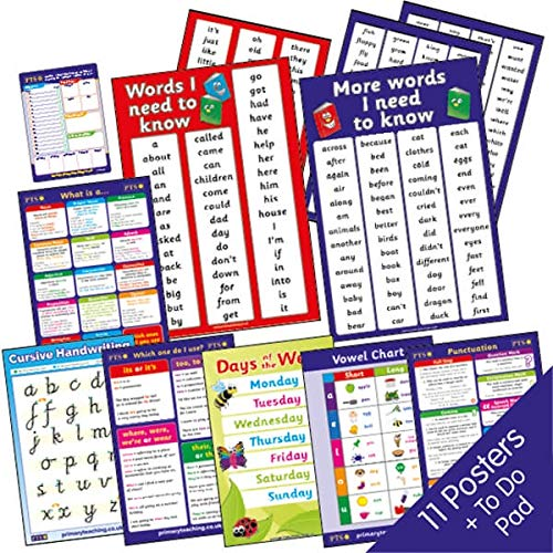 12 Mixed English Literacy Grammar Punctuation Childrens Pupils Teachers Classroom Display Posters A2 Primary Teaching Services