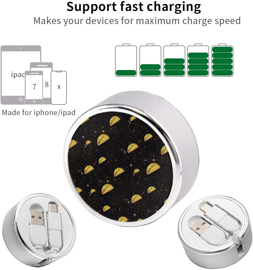 Multi Quick USB Charging Cable,Spacetaco 2 in1 Fast Charger Cord Connector High Speed Durable Charging Cord Compatible with iPhone//Tablets//Samsung Galaxy//iPad and More