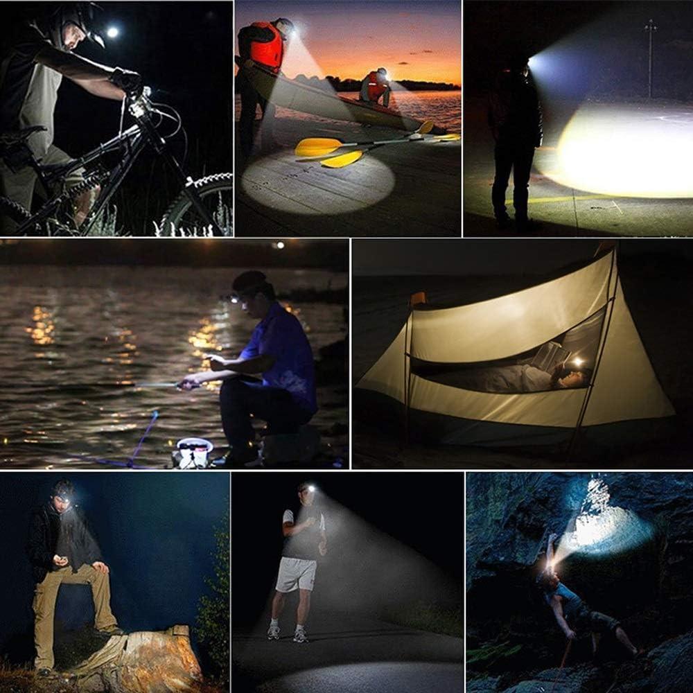 Camping und Lesen Spazierengehen mit dem Hund Stirnlampe Kopftaschenlampe Super Bright Glare Wasserdichte Stirnlampe 5 Super Bright T6-Birnen-Scheinwerfer Ideal zum Laufen Angeln
