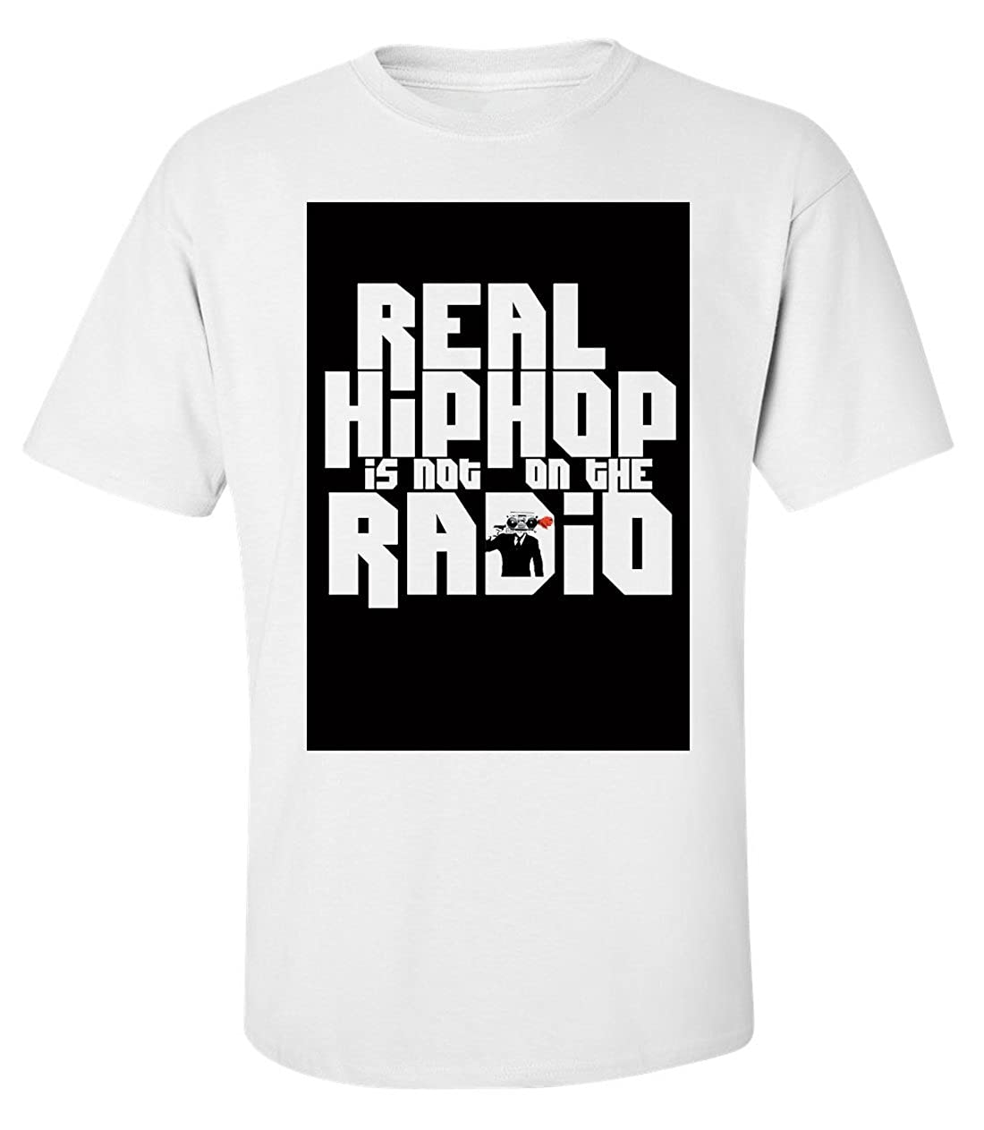 Homme Real Hip Hop is Not on The Radio Slogan T-Shirt
