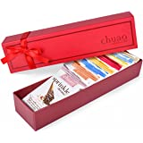 Chocolate Gift Set - Chuao Chocolatier Taste the Joy 8 Piece Gift Set (.39 oz mini bars) - Best-Selling Variety Pack - Gourmet Artisan Milk and Dark Chocolate Assortment - Free of Artificial Flavors