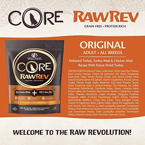 Wellness Core Rawrev Natural Grain Free Dry Dog Food, Original Turkey & Chicken With Freeze Dried Turkey, 20-Pound Bag by Wellness Natural Pet Food (Image #2)