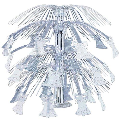 Pack of 6 Silver Metallic Bell Cascade Centerpiece Wedding Decorations 18
