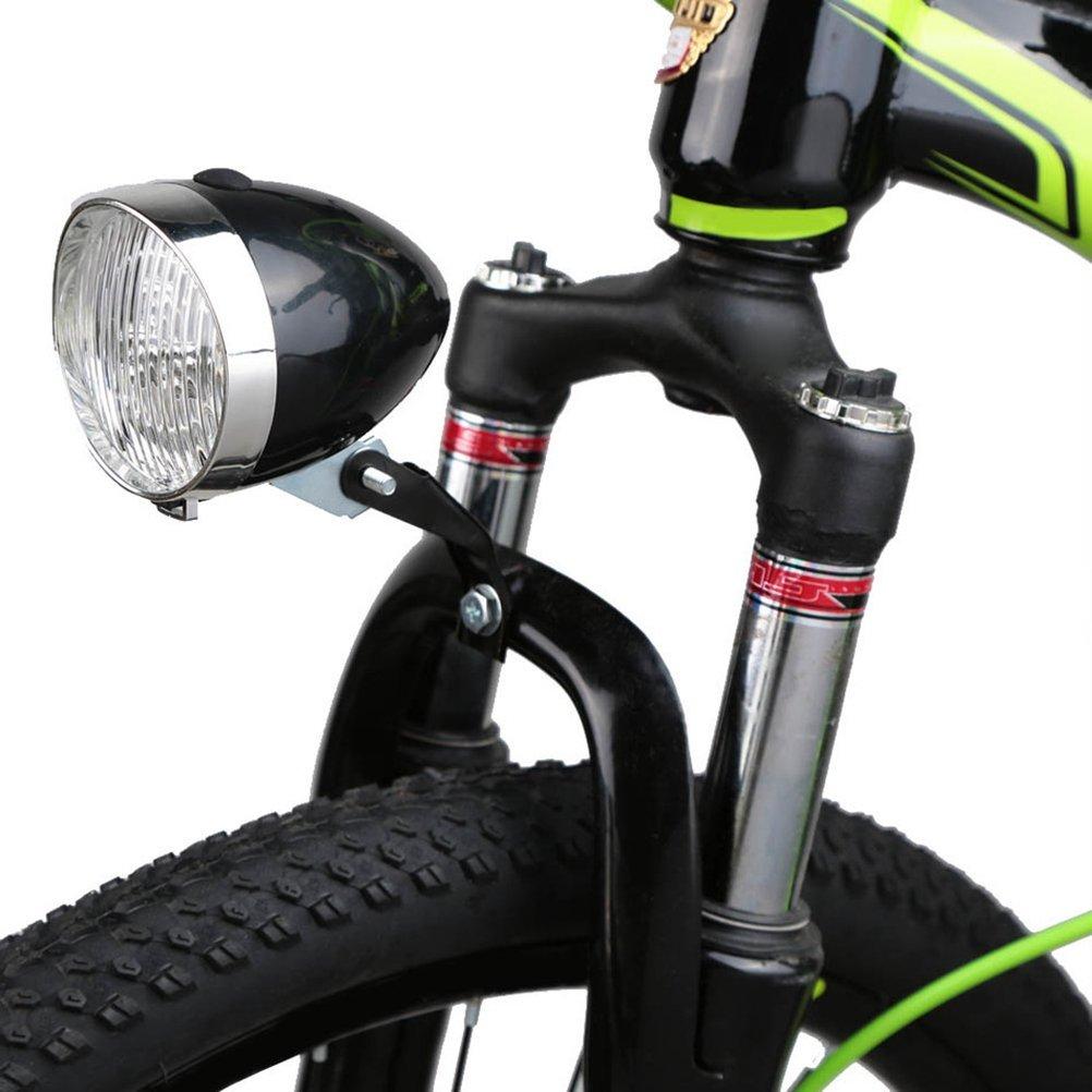 VORCOOL LED Luz Delantera de Bicicleta Impermeable Retro Alimentado por Pilas