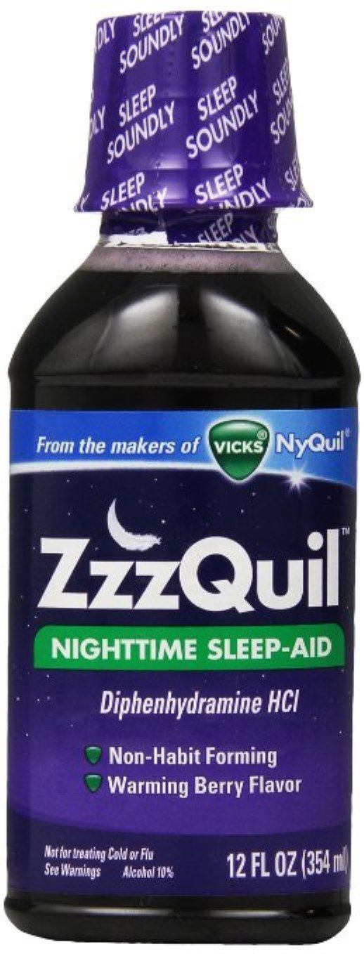 ZzzQuil Nighttime Sleep-Aid Liquid, Warming Berry Flavor 12 oz (Pack of 11)