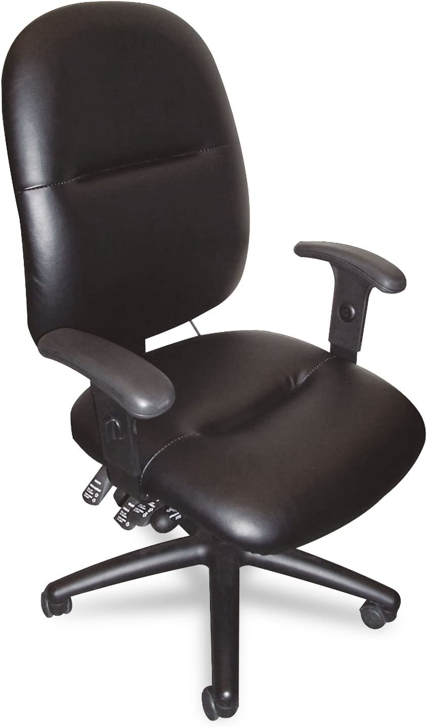 Mayline Comfort 24 Hour High Performance Multi Function Memory Foam Chair in Black Leather