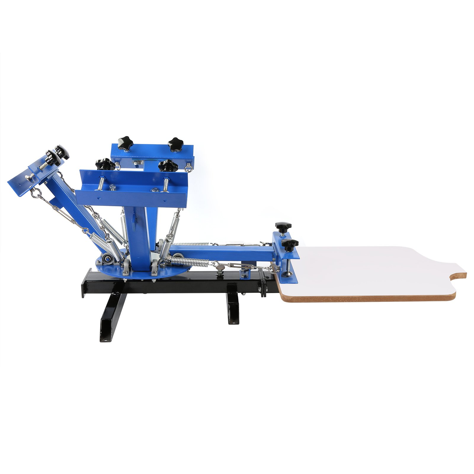 BestEquip Screen Printing Machine 1 Station 4 Color Screen Printing for T-shirt DIY Screen Printing Press Silk Screen Removable Pallet by BestEquip