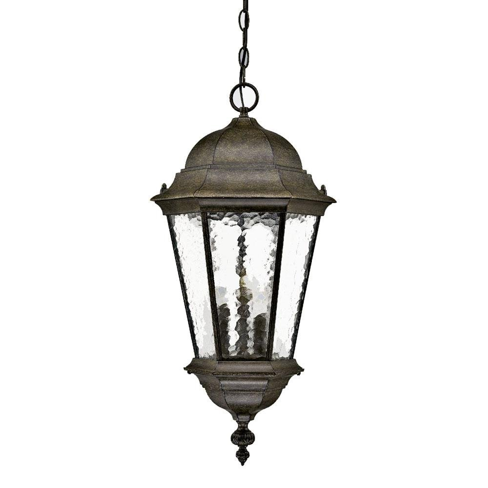Acclaim 5526BC Telfair Collection 3-Light Outdoor Light Fixture Hanging Lantern, Black Coral by Acclaim