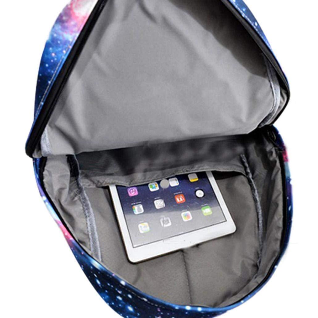 Outsta - Mochila de viaje unisex con diseño de galaxia, bolsa de lona resistente al agua, con bolsillos laterales para botella: Amazon.es: Juguetes y juegos